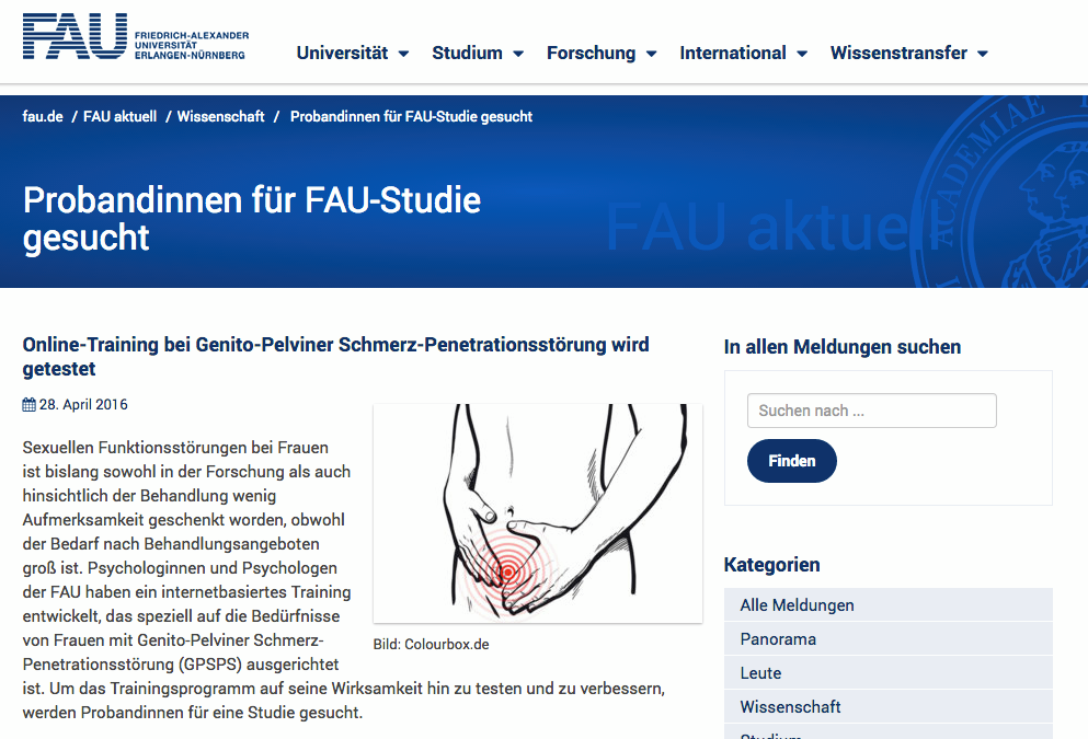 Paivina-Care im FAU Newsletter